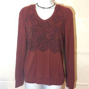 Tops - Prana Brown hoodie shirt Large